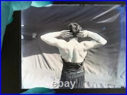 013 Antique VTG Photo Glass Negative Circus Carnival Strongwoman Sideshow muscle
