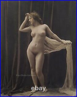 1910s Original Female Nude CHARLES WESLEY GILHOUSEN Vintage Silver Gelatin Photo
