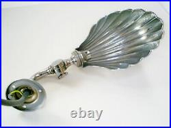 1930s LOVELY VINTAGE ART DECO CHROME SHELL SHAPE ADJUSTABLE PICTURE/WALL LIGHT