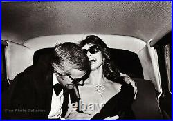 1973 HELMUT NEWTON Paris Woman Fashion Nude Breast Car Cigar Man Photo Art 11X14
