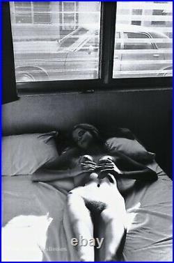 1976 Vintage HELMUT NEWTON Female Nude Woman Body In Bed Duotone Photo Art 16X20