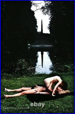 1977 Vintage HELMUT NEWTON Female Nude Women Fashion Garden Lake Photo Art 11X14