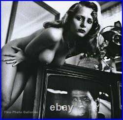 1980s Vintage HELMUT NEWTON Female Nude Fashion Television Retro Photo Art 16X20