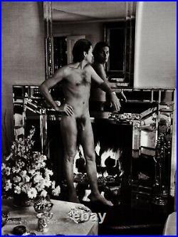 1984 Vintage Male Nude HELMUT BERGER Movie Actor HELMUT NEWTON Photo Art 11X14
