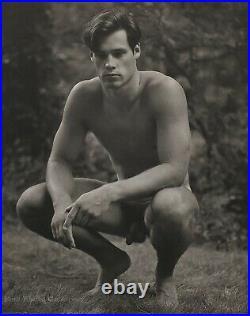 1987 Vintage BRUCE WEBER Outdoor Male Nude Model BILLY Forest Photo Gravure Art