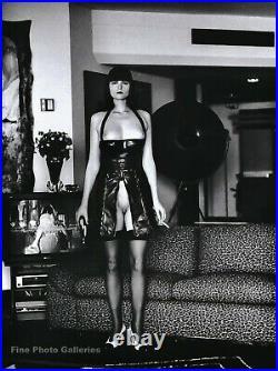 1993 Vintage HELMUT NEWTON Female Semi Nude Woman Latex Fashion Photo Art 8x10
