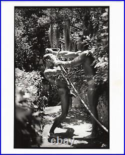 1995 Original JAY JORGENSEN Male Nude Water Garden Physique Silver Gelatin Photo