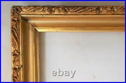 2 Antique Fit 8 X 12 Gold Gilt Picture Frame Wood Gesso Ornate Fine Art Country