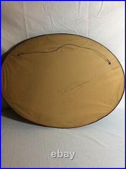 2 Vintage Convex Bubble Glass Oval 25 Picture Frame & Couple Photo Circa 1915