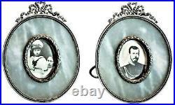 A Faberge Pair of Silver & Jasper Photograph Frames, Ca. 1908 1917