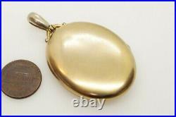 ANTIQUE VICTORIAN ENGLISH GOLD B+F ROSE CUT DIAMOND PHOTO MEMENTO LOCKET c1880