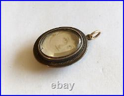 Antique Victorian 10k Double Sided Picture Locket/Drop/Charm