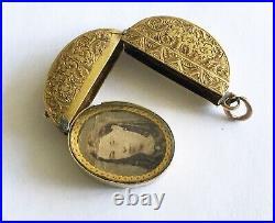 Antique Victorian 15ct Multi Picture Locket/Drop/Pendant