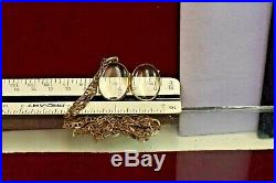 Antique Victorian sterling silver pool of light photo locket pendant & chain nec