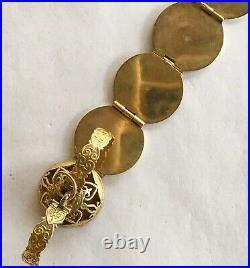 Antique Vintage 14k Fancy Multi Picture Locket/Pendent/Drop/Ball