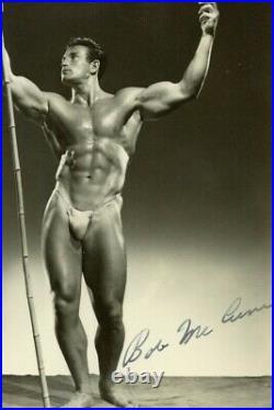 Beefcake Bob McCune Signed 1940 Athletic Model Guild Bob Mizer Gay Photo Buff