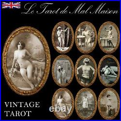 Erotic gift photo naked woman tarot card cards game deck rare vintage sexy girl