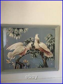 Mid Century Turner Flamingo Print Modern Framed Vintage Picture 3 units