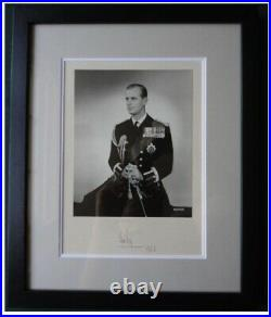 Prince Philip Duke of Edinburgh Antique Signed Presentation Photo 1963 by Baron