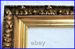 Sm Antique Fit 7 X 10 Gold Gilt Picture Frame Wood Gesso Ornate Fine Art Country