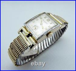 Vintage 1950 Bulova 17j Men's Flip-Top Photo Watch (New Old Stock) Box/Tags