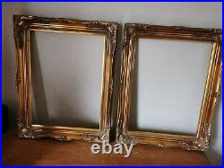 Vintage Rococo French Antique Style Ornate Gold /Gilt Picture Frame 16 x 12 PAIR