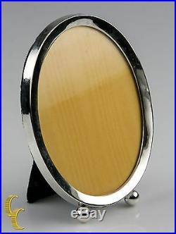 Vintage Webster Sterling Silver 925 Oval Easel Picture Frame 4 3/8 x 3 3/8