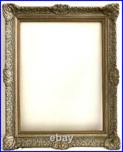 Wood Picture Frame Gold Silver Ornate Vtg Large 32x 40x 3 Fits 24x32